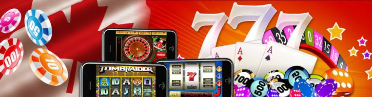 777 canada online casino with canadian flag and casino chips with mobile gmeplay